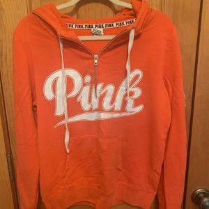 Victoria's Secret pink quarter zip hoodie